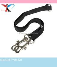 "Black Blue Braided Nylon Rope 33"" Dual Double Twin Leash Coupler Easy Walk Walking Pet Dogs 1 Lead 2 Way 83cm"