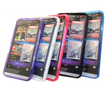 Soft Gel Rubbet TPU Transparent Phone Case Cover for blackberry Z30