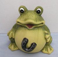 Stock pottery frog money box for children