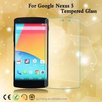 Hot model Asahi glass anti-shock anti-fingerprint anti-dust tempered glass screen guard for google Nexus 5