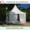 Outdoor pavillion gazebo with polycarbonate roof for events