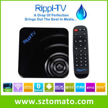 China Top Ten Selling Products Rippl-TV Best Google Android4.4 Smart IPTV TV Box XBMC Full HD 1080P Media Player