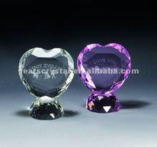 China suministro de cristal de regalo de boda para las decoraciones de corazón de cristal de diamante( r- 0168)