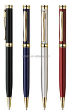 Hotel metal ball pen with twist action