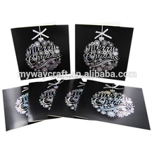 Merry Xmas gold and silver hot foil black christmas greeting cards