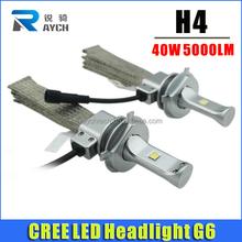 2015 New arrival 40W 5000LM G6 car led headlight bulbs, car led H4 hi lo