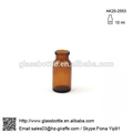 Antibiótico de vidrio de color ámbar de la botella química botella de vidrio moldeado ak20-2553