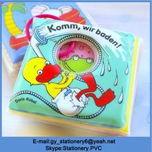 PVC bath books for kids, water color change yellow duck bath book
