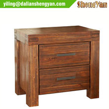 Vintage Nightstand Solid Oak Bed Side Table