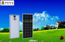 High efficiency low solar panel price Chinese Zhejiang Ningbo Ring Electronics Co.,Ltd18V 150W mono flexible solar panel