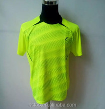 TR152 Top quality fluorescence green latest design badminton uniforms for team