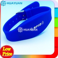 colorful adjustable waterproof nfc silicon wristband rfid