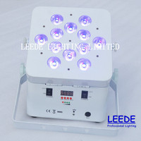 12*15w RGBAW 5in1 Wireless Battery LED Flat Par Can For Sale