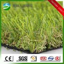 Four tone natural looking synthetic turf plastic grass