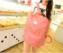 Trendy leather school bags for teenage girls cheap cool backpacks
