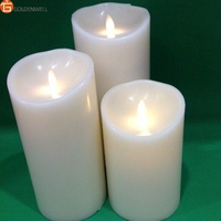 Flameless Feature and Home Decoration Use Paraffin Wax Luminara Led Candle Light