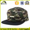 Camo 6 Panel Gold Metal Logo Custom Design Snapback Hats