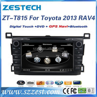 ZESTECH Factory OEM Dashboard placement and 8 inch 2 din car dvd for toyota RAV4 2013-2014 with GPS+BT+FREE MAP