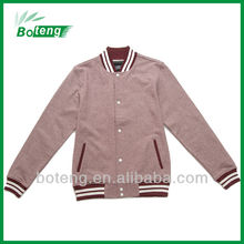 Mens Melange Fleece Baseball Jacket in 2012