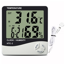Best offer new thermometer hygrometer with time calendar clcok