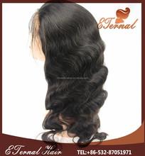 Stock wholesale body wave human hair brazilian full lace human hair wigs