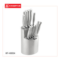 Hot-sale High quality stainless steel 10 pcs kitchen knife set KF-H8004