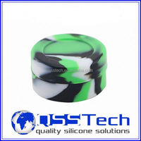 Platinum cured 3ml slick custom design jar for concentrate wax/ silicone container/ butane hash oil silicone container