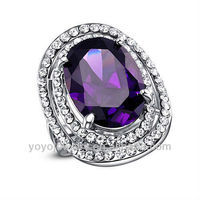 china wholesale purple gemstone gold finger ring rings design for women with price