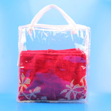Custom clear tote underwear plastic pvc zipper bags
