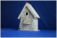 high quality small unfinished wooden bird cage wholesale