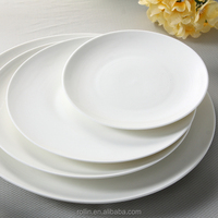 2015high quanlity elegant Round ceramic plates for hotel