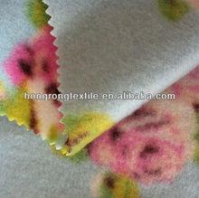 flor de moda de impresión polares tela polar para paños