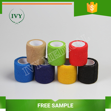 High Quality hot sell veterinary colored sport waterproof horse medical elastic cohesive bandage