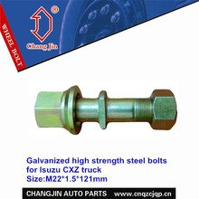 Galvanized high strength steel bolts for Isuzu CXZ truck
