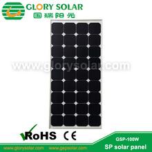 sunpower cells highest efficiency solar cell in the world glass 100W sunpower solar panel