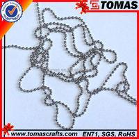 Guangzhou custom 2.4mm ball chain for metal craft