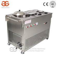 Factory Price Automatic Temperature Control Fruit/Yogurt/Ice Cream Ice Frying Machine with 4 Barrels