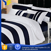 twill china wholesale 100% cotton dark blue bedding set