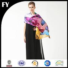 Custom digital printed 100 natural silk shawl stole ludhiana