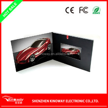 LCD video brochure card OEM 3.5 inch video greeting brochure card for Wedding/business use