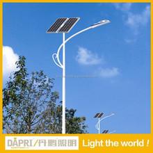 High quality 15w 30w 60w 90w LED solar street lights with solar panel factory