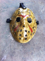 Wholesale Plastic Halloween party mask Yellow Jason Hockey mask masquerade party carnival masks