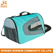 Eco-Friendly Material Mesh Window Foldable portable pet carrier