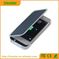 digits display 2800mAh solar power bank case for iphne 5 5s