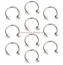 Surgical Steel Cone Ball Barbell Curved Nose RIng Hoop