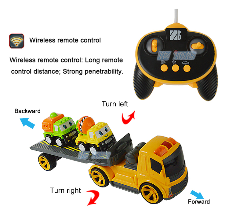 product gs ch remote control truck rc trailer for rent trucks on sale with two small car toy