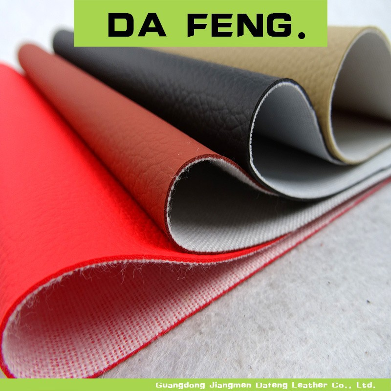 New Design Automotive Litchi Pattern Pvc Leather Pvc