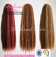 Hot selling Wholesale braided synthetic hair extension accept escrow & paypal factory price