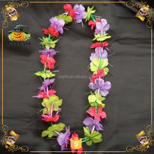 Promotional Rinbow Hawaii Flower Necklace Lei