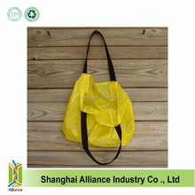 Super Strong Yellow Ripstop Nylon Grocery Shopping Foldable Tote Bag